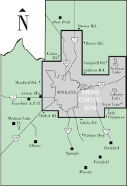 Map of Spokane For Furnace Repair